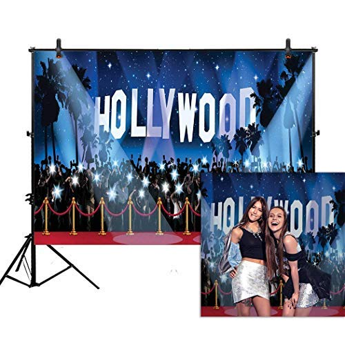 Allenjoy 7x5ft photography backdrop Hollywood night Movie Premiere birthday Adult party banner red carpet background props photo studio booth