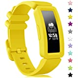 findway Compatible with Fitbit Ace 2 Bands for Kids 6+, Soft Silicone Bracelet Accessories Sport Strap Boys Girls Wristbands Compatible for Fitbit Inspire HR & Ace 2