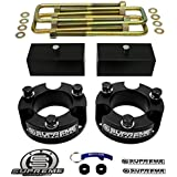 """Supreme Suspensions - Toyota Tacoma Full Lift Kit 3"""" Front + 2"""" Rear Aircraft Billet Strut Spacers and Lift Blocks + U-Bolts"""
