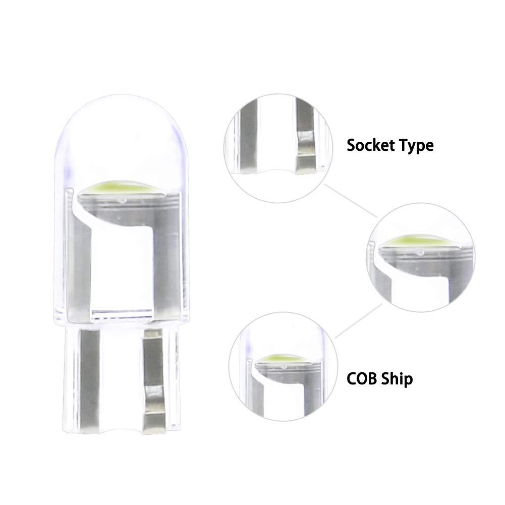 Dibiang 10pcs LED de voiture ampoule blanche lampe de lecture int/érieure T10 LED ampoule W5W 3030 SMD de lecture de largeur