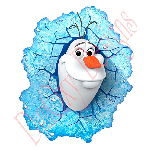 One Stop Decals Olaf (Frozen) Looking Out of Frosty Window. Christmas and Holidays Static Cling Decoration for Windows, Mirrors or Polished Metal Surfaces. (10