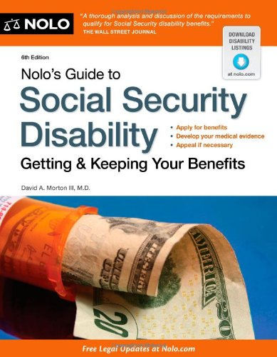 Read Online Nolo's Guide to Social Security Disability: Getting & Keeping Your Benefits pdf epub
