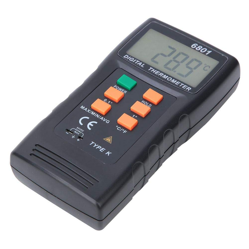 238℉-2372℉ Thermocouple Thermometer Measuring Meter Tester VC6801 LCD Display Digital Thermometer