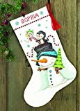 Dimensions Crafts 70-08937 Needlecraft Jolly Trio Stocking in Counted Cross Stitch