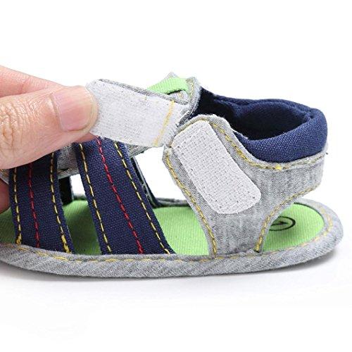 BZLine® Kind Kinder Mädchen Jungen Soft Sole Krippe Schuhe Sandalen Blau