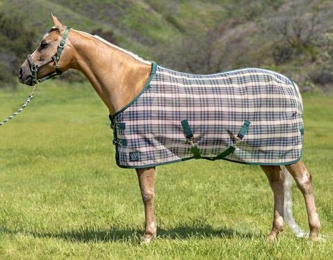 Kensington Platinum SureFit Protective Fly Sheet for Horses - SureFit Cut with Snap Front Chest Closure - Made of Grooming Mesh This Sheet Offers Maximum Protection Year Round - 69'' Deluxe Hunter by Kensington Protective Products (Image #1)