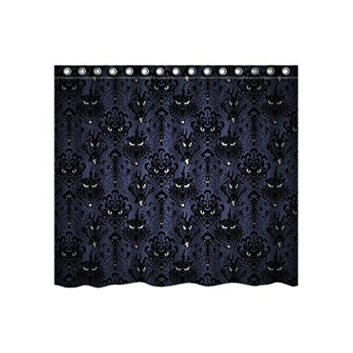(Haunted Mansion Halloween Custom Shower Curtain Stylish Waterproof Polyester Fabric Bathroom)
