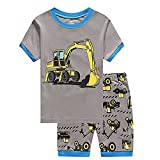 Children Kids Dinosaur Car Boys Pajamas Sets Baby 100% Cotton Pjs Sleepwear T Shirt & Shorts Pants Pyjamas Sets Nightwear Outfit UK Size 1 to 7 Years