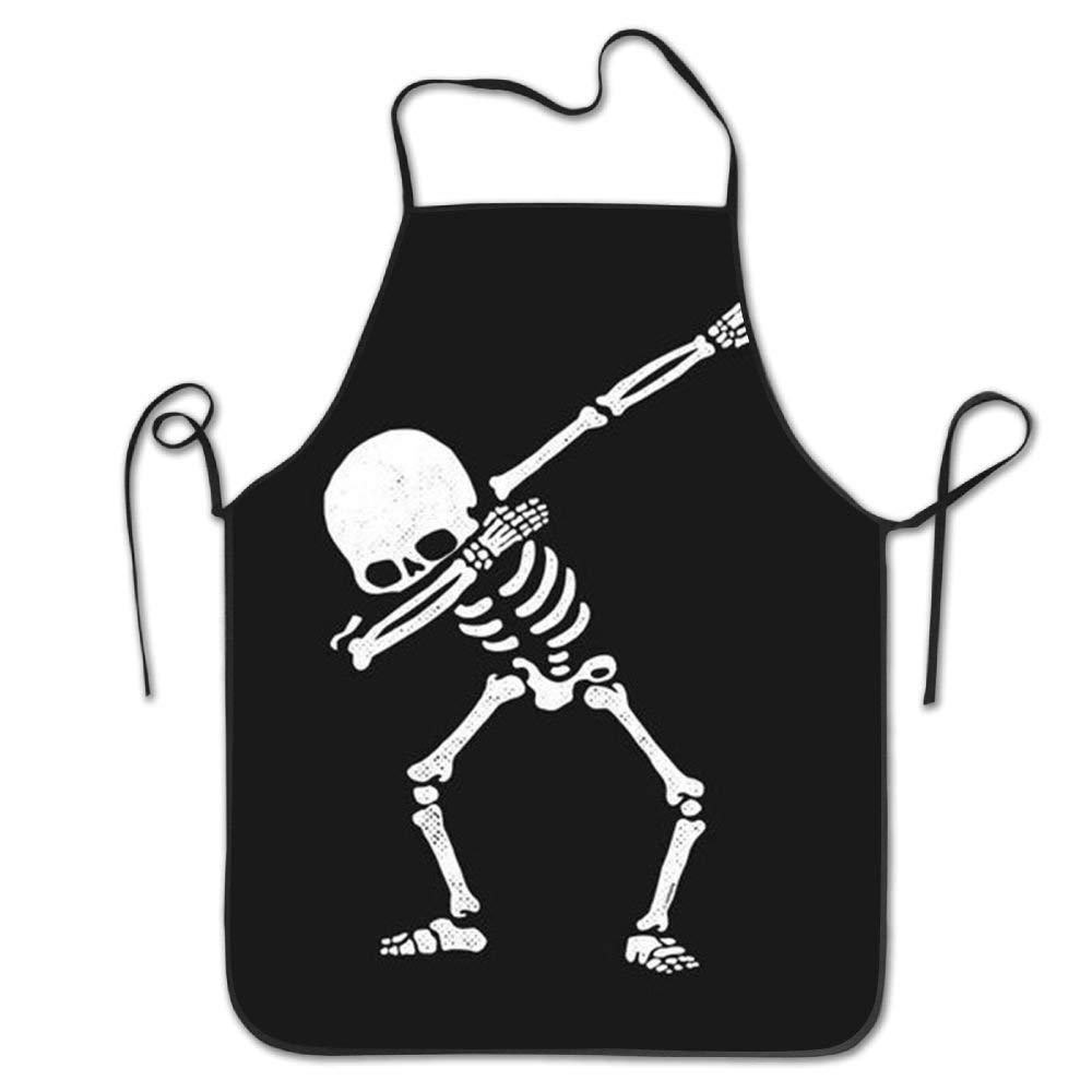 "Beauregar Dab Dabbing Skull Aprons for Women/Men Made of Super Soft Barbecue Waitress Kitchen Towel Funny Chef Apron 28.3""x20.5"""