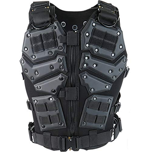 (ActionUnion Airsoft Tactical Vest Military Costume Molle Chest Protectors Gilet Paintball Vest CS Field Outdoor Modular Combat Training Adults Men Special Forces Adjustable EVA )