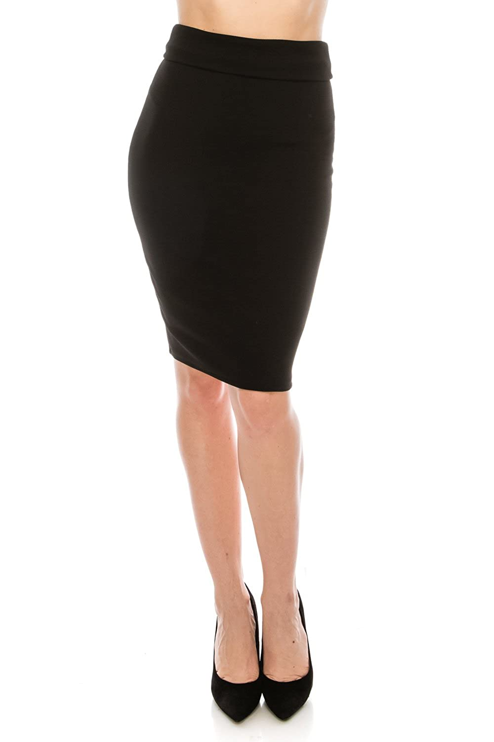 Missymissy Womens Business Casual Stretch High Waist Knee Length Pencil Skirts At Amazon Womens Clothing Store