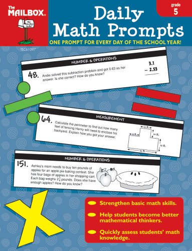 Daily Math Prompts (Gr. 5) by The Mailbox Books Staff (2007-07-01)