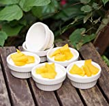 Cinf White Porcelain 4oz Ramekins Pudding Bowls Dishes Cup for Baking-  Deal (Small Image)