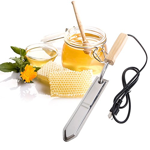 Poity Electric Uncapping Knife Bee Honey Scraper Hot Knife Stainless Steel Extractor