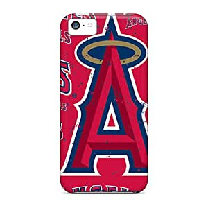 Shockproof Hard Phone Covers For Iphone 5c With Support Your Personal Customized Realistic Los Angeles Angels Pictures TimeaJoyce