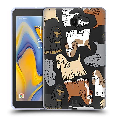 Head Case Designs Cocker Spaniel Dog Breed Patterns 7 Soft Gel Case Compatible for Galaxy Tab A 8.0 (2018)
