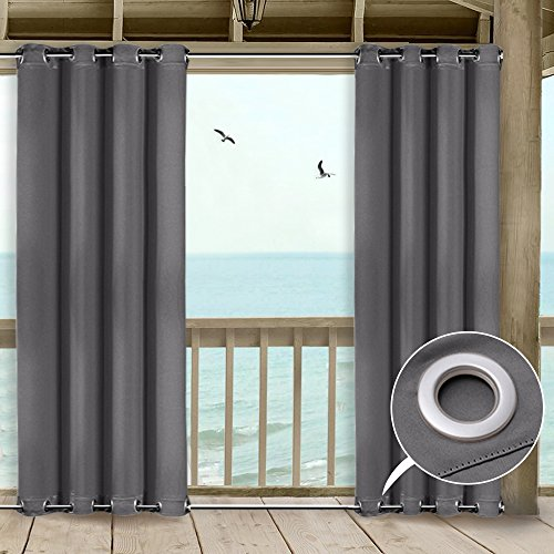 Cheap  NICETOWN Outdoor Privacy Curtain for Patio Window Treatment Top and Bottom Grommets..