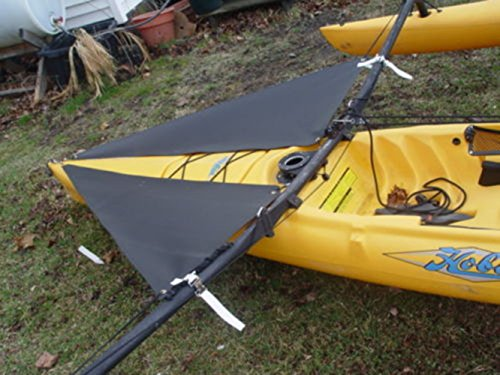 Black Spray Shield Set for Hobie Mirage Adventure Island Kayak by Canoe