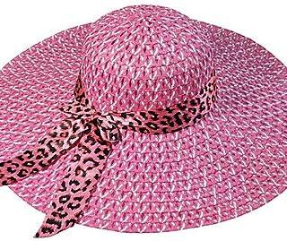 ZYT da Donna Molla Estate Autunno per Tutte Le Stagioni Paglia Vintage Romantico da Serata da Ufficio CasualCappello di Paglia Cappello da, Blushing Pink, One-Size