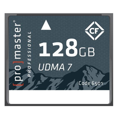 Promaster Compact Flash 128GB RUGGED Memory Card UDMA7 (6501) by ProMaster