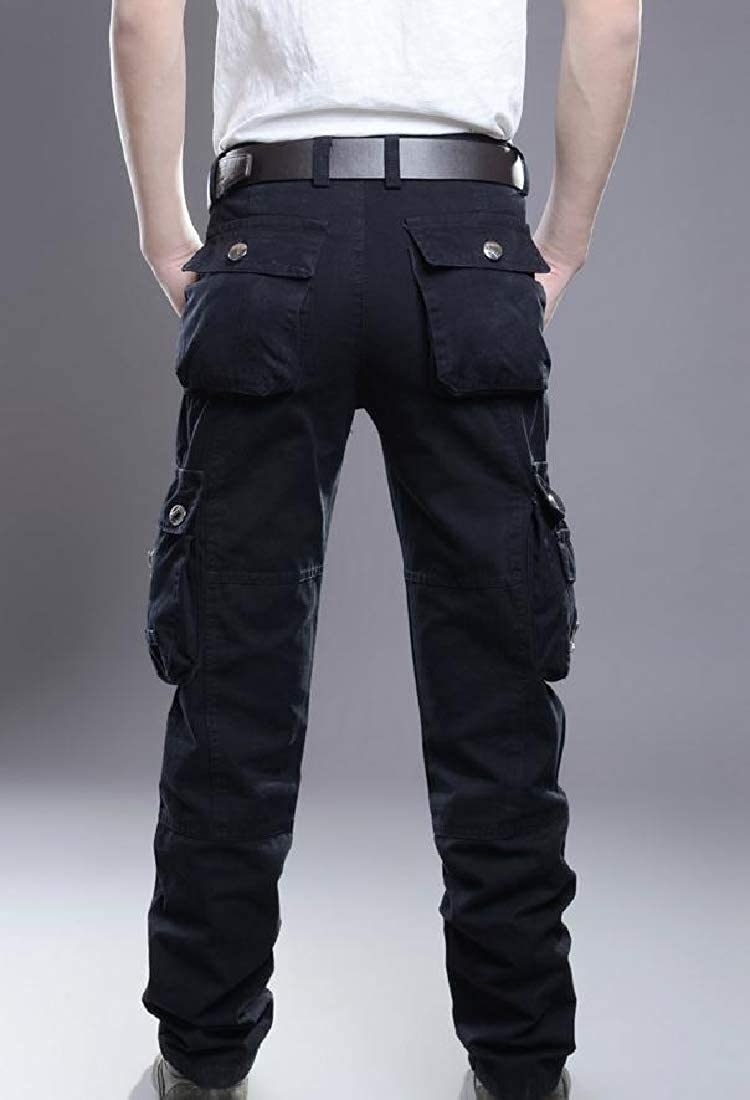 Mens Outdoor Multi-Pocket Relaxed Fit Active Shift Cargo Pants