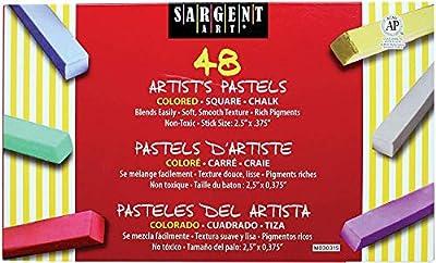Sargent Art 22-4148 Colored Square Chalk Pastels