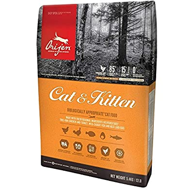 Cat Food Orijen 12 LB Dry Kitten Food 12 Pound Bag. (BIOLOGICALLY Appropriate | for All Life Stages) [tag]