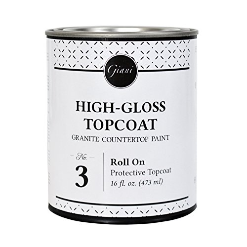 Giani Countertop Paint Clear Acrylic Topcoat- Step 3