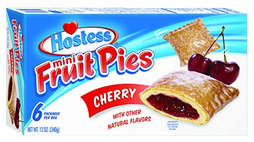 Hostess Mini Fruit Pies, Cherry, 6 Count (Pack of 6)