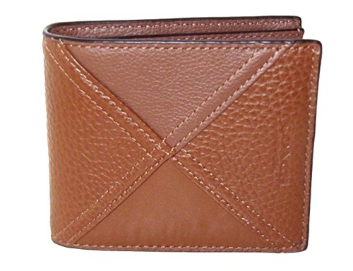 COACH 3 in 1 Patchwork Leather Passcase ID Wallet in Dark Saddle Brown 56599