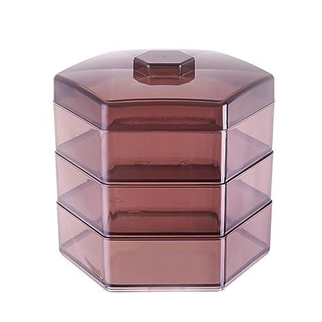 XIAOJUNJUN Cajas De Almacenaje Cocina De Plástico De 3 Capas De Frutas Secas Compartimento De La