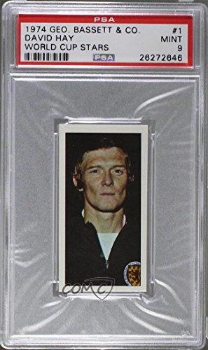 Bassett Star - David Hay Graded PSA 9 MINT (Trading Card) 1974 Bassett World Cup Stars - [Base] #1