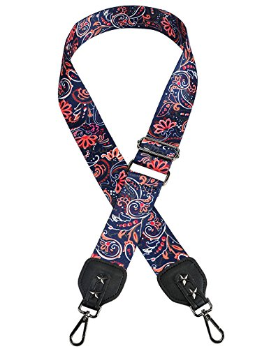 Ayliss 52'' Purse Strap Replacement Guitar Style Crossbody Strap for Handbags,Paisley by Ayliss