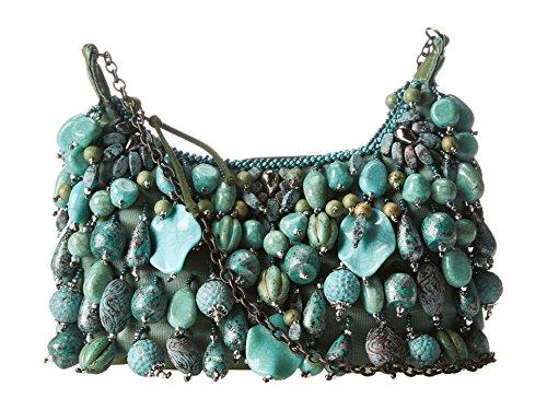- Mary Frances Antique Mini Turquoise Colored Beaded Jeweled Handbag Purse Shoulder Bag