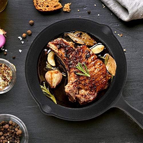 Planchas, 3pcs / set 16 cm sartenes 20 cm 25 cm de hierro fundido de limpieza de la cocina de calidad utensilio de cocina Ollas: Amazon.es: Hogar