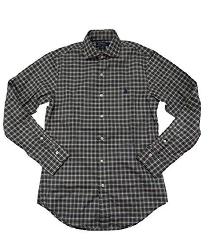 Polo Ralph Lauren Men's Slim Fit Twill Pony Logo Button-Down Shirt (M, Grey Multi Gingham)