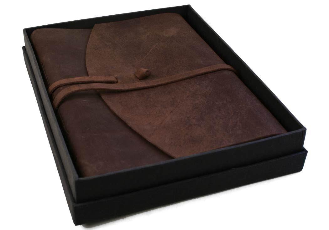 Enya Taccuino in pelle, realizzato a mano, pagine 100% cotone, 15x 20cm Life Arts 09443