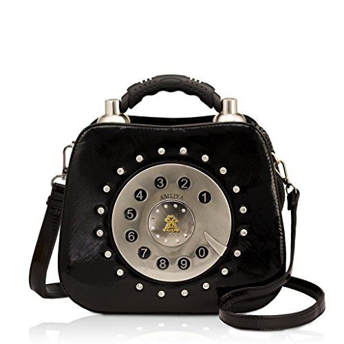 Darling's Amliya Telephone Fashion Design Handbag Shoulder Bag Black Ham9136-blk