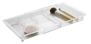 iDesign rangement maquillage, organisateur tiroir extensible en ...