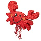 BirthdayExpress Crab 21'' Pull-String Pinata
