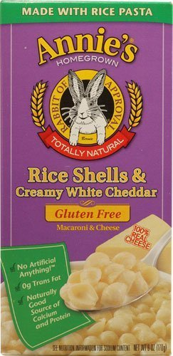 Price comparison product image Annie's Homegrown Rice Shells and Creamy White Cheddar Gluten Free Macaroni & Cheese (Pack of 6)