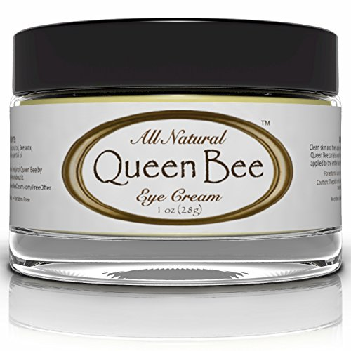 Queen Bee 100% All-Natural, Organic Under Eye Cream – Removes Dark Circles, Facial Lines and Wrinkles Naturally – 1oz (30ml) image