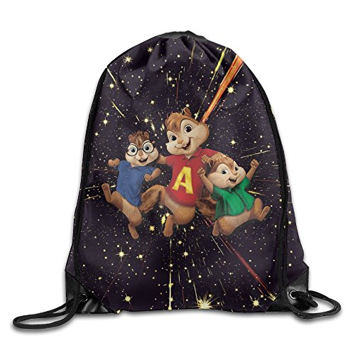 SHUIZHUYU Alvin And The Chipmunks Theodore And Simon Drawstring Backpack Sack Bag -
