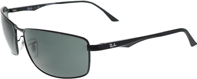 b9c3ac0fd27 Amazon.com  Ray-Ban 0RB3498 Rectangular Sunglasses  Clothing