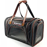 Bennies World Airline Approved Soft Sided Pet Carrier Travel Bag – Small Dogs and Cats – Fits under Seat