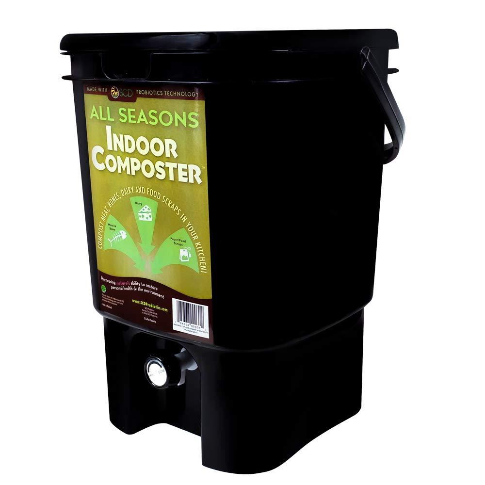 SCD Probiotics B101 All Seasons Indoor Composter - Black KTP