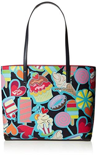 Tua by Braccialini Fantasy, Borsa Tote Donna, 45x30x14 cm (W x H x L) Multicolore (Candy)