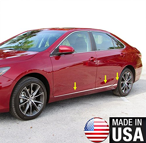 Toyota Camry Auto Body - Tyger Auto Made In USA! Works With 2015-2017 Toyota Camry Accent Body Side Molding Trim 1 1/2'' Wide 6PC