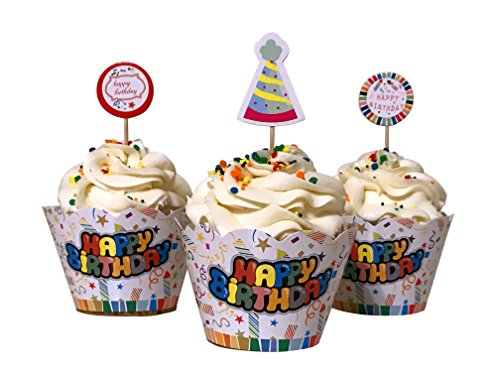 irthday cupcake decoration wrappers and picks! (Birthday Cupcake Toppers)