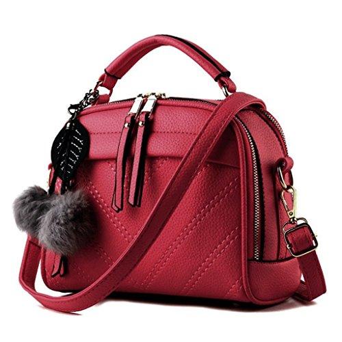 Ball PU Sac Messenger Sac Couleur main de en main épaule Noir cuir A femmes 6 Handbag Bag Hair à à w7dWxFBXXq